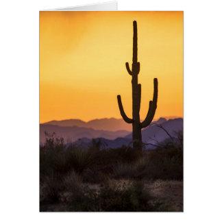嵐の前のスコッツデールの日没 カード
