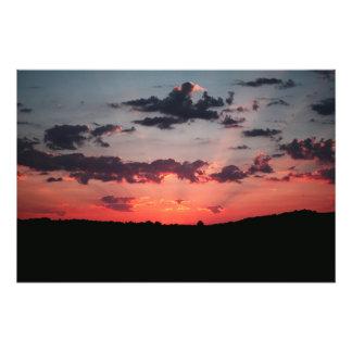 嵐の後の日没 フォトプリント