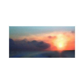 嵐の日没の海 キャンバスプリント