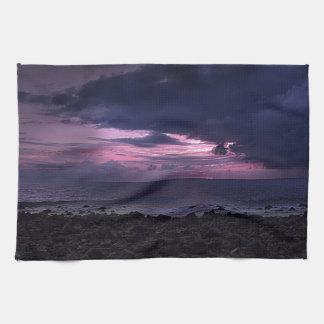 嵐の日没 キッチンタオル