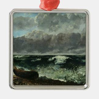 嵐の海か、波1870年 メタルオーナメント