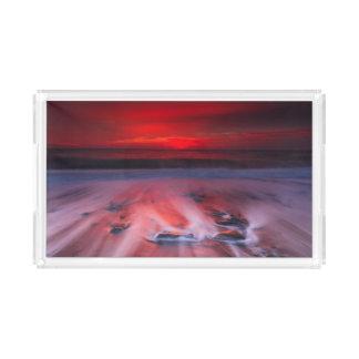 嵐の海上の夜明け アクリルトレー