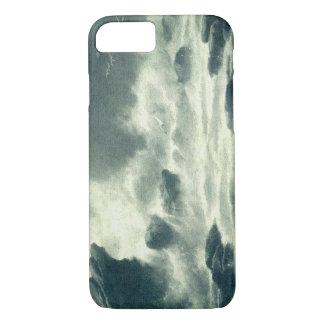 嵐の海岸のヴィンテージの郵便はがきのiPhoneカバー iPhone 8/7ケース