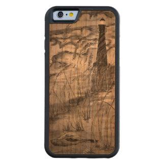 嵐の灯台 CarvedチェリーiPhone 6バンパーケース