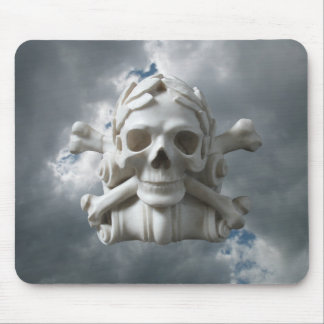 嵐の空のマウスパッドに対して骨組スカル及び骨 マウスパッド