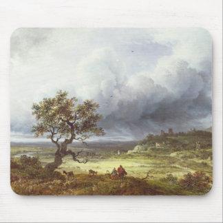 嵐の空の下の田舎 マウスパッド