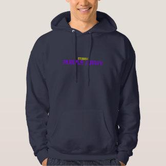 嵐の紫色の軍隊のフード付きスウェットシャツ パーカ