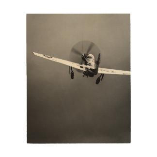 嵐のP-51ムスタングの離陸 ウッドウォールアート