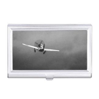 嵐のP-51ムスタングの離陸 名刺入れ