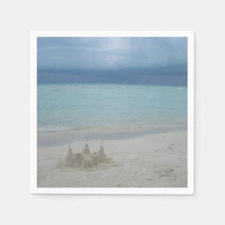 嵐のSandcastleのビーチの景色 スタンダードカクテルナプキン