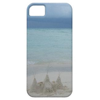 嵐のSandcastleのビーチの景色 iPhone SE/5/5s ケース
