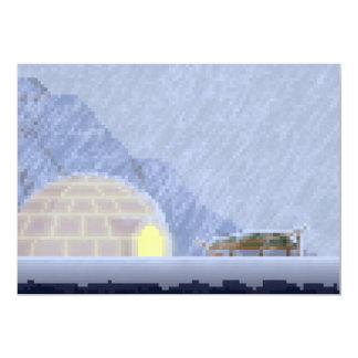 嵐ピクセル芸術の招待状で居心地のよい カード