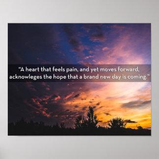 嵐ポスターの後で希望を持って来る日の出の写真 ポスター