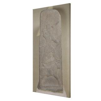 嵐神Adadを描写する石碑 キャンバスプリント