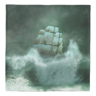 嵐(2つの側面)の女王の羽毛布団カバーで出荷して下さい 掛け布団カバー