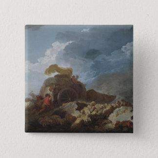 嵐、c.1759 5.1cm 正方形バッジ