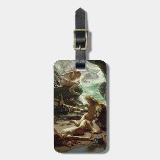 嵐Nymphs 1903年の洞窟(キャンバスの油) ラゲッジタグ