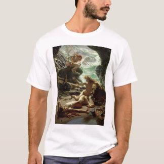嵐Nymphs 1903年の洞窟(キャンバスの油) Tシャツ
