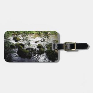 川および石の平和写真 ラゲッジタグ