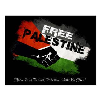 """""""川から海""""自由なパレスチナへの ポストカード"""