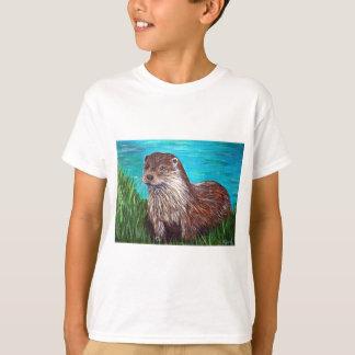 川によるカワウソ Tシャツ
