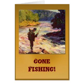 川のくねりによって行った採取、 カード