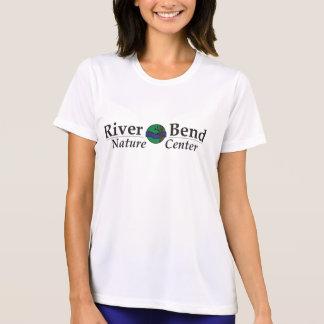 川のくねりのロゴの性能のMicrofiberのTシャツ Tシャツ