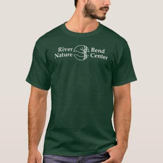 川のくねりのロゴの暗闇のTシャツ Tシャツ