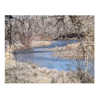 川のくねりの郵便はがき ポストカード