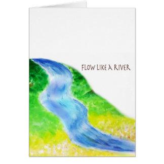 川のような流れ カード