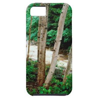 川のキハダカンバの白ニューハンプシャー iPhone SE/5/5s ケース