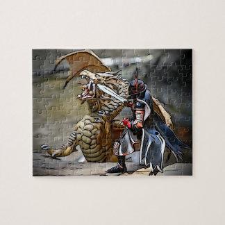 川のドラゴンの戦い ジグソーパズル