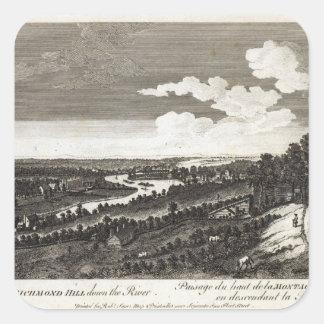 川の下のリッチモンドの丘からの眺め スクエアシール