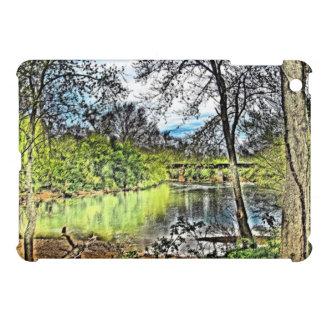 川の反射のiPad Miniケース iPad Mini カバー
