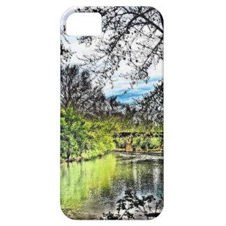 川の反射のiPhone 5の場合(縦) iPhone SE/5/5s ケース