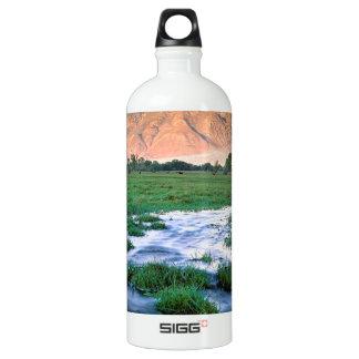 川の山のトムOwensの谷の東の山脈 ウォーターボトル