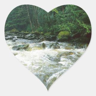 川の急ぐサーモンピンクの第一王女カナダ ハートシール