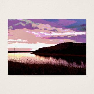 川の日没 名刺