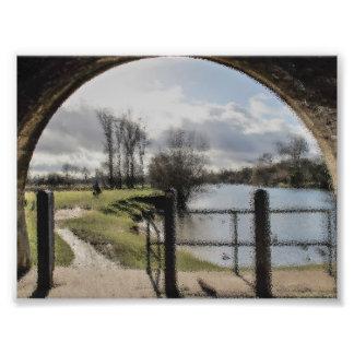 川の景色の芸術のプリント フォトプリント