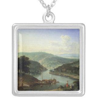 川の景色1697年 シルバープレートネックレス