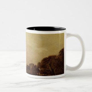 川の景色 ツートーンマグカップ