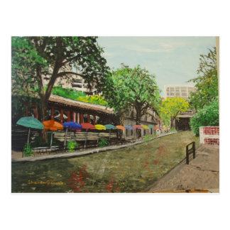 川の歩行サン・アントニオのTXの絵画 ポストカード