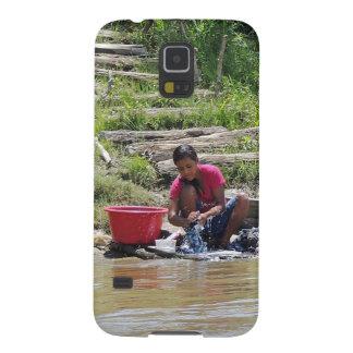 川の洗濯日 GALAXY S5 ケース