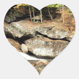 川の穂先の滝Windham郡ヴァーモント ハートシール