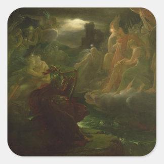 川の精神の上で呪文で呼び出すOssian スクエアシール