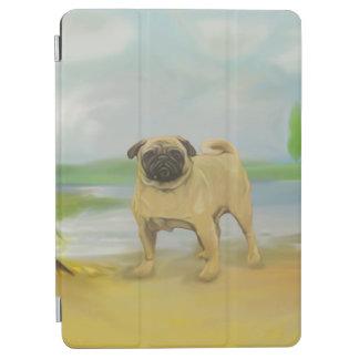 川の芸術によるパグ犬 iPad AIR カバー