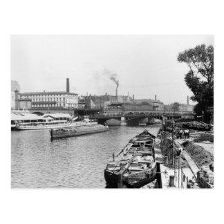川の酒宴の眺め、ベルリン、c.1910 ポストカード