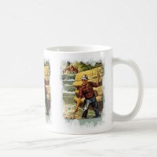 川の銀行の採取 コーヒーマグカップ