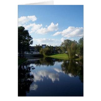 川の雲 カード