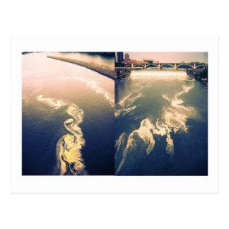 川の雲 ポストカード